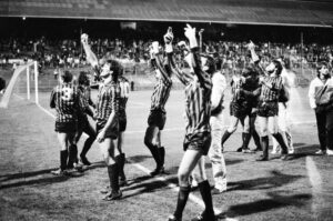 Birmingham v Altrincham during the FA Cup tie 1986