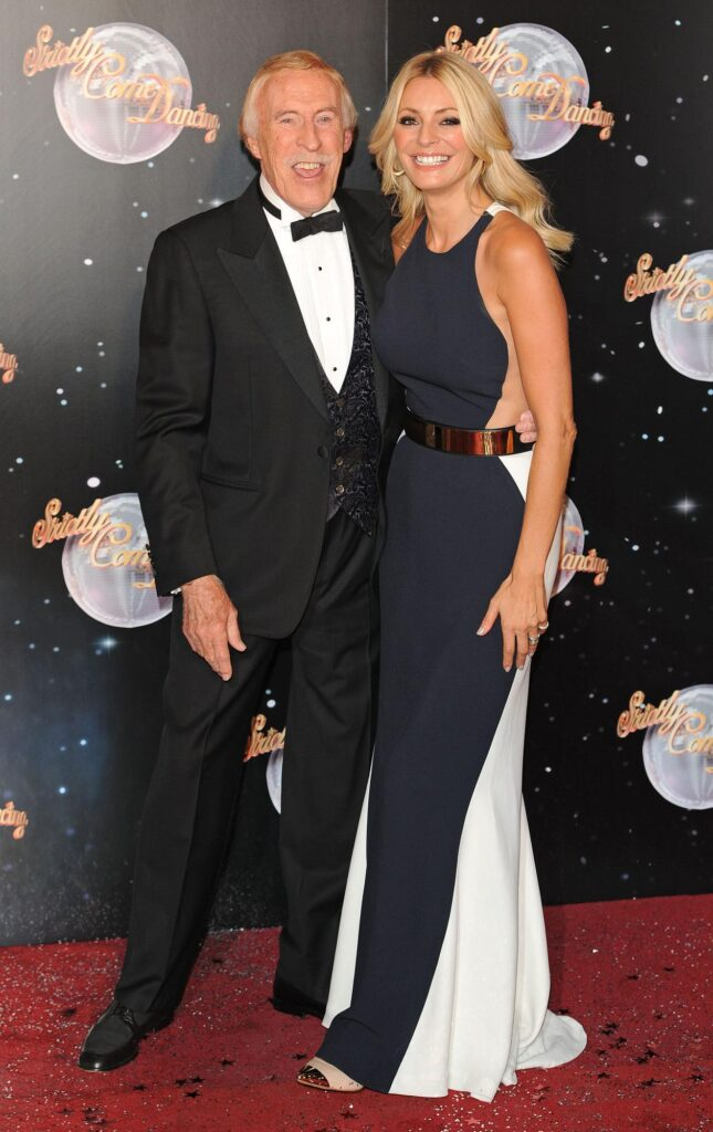 Bruce Forsyth and Tess Daly attending a Strictly Come Dancing red carpet event