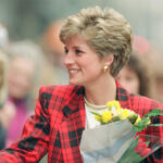 Diana greeting people on Moseley Street Manchester