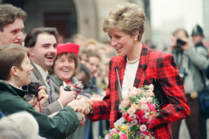 HRH The Princess of Wales in Manchester visiting the Manchester Art Gallery. 12th March 1991