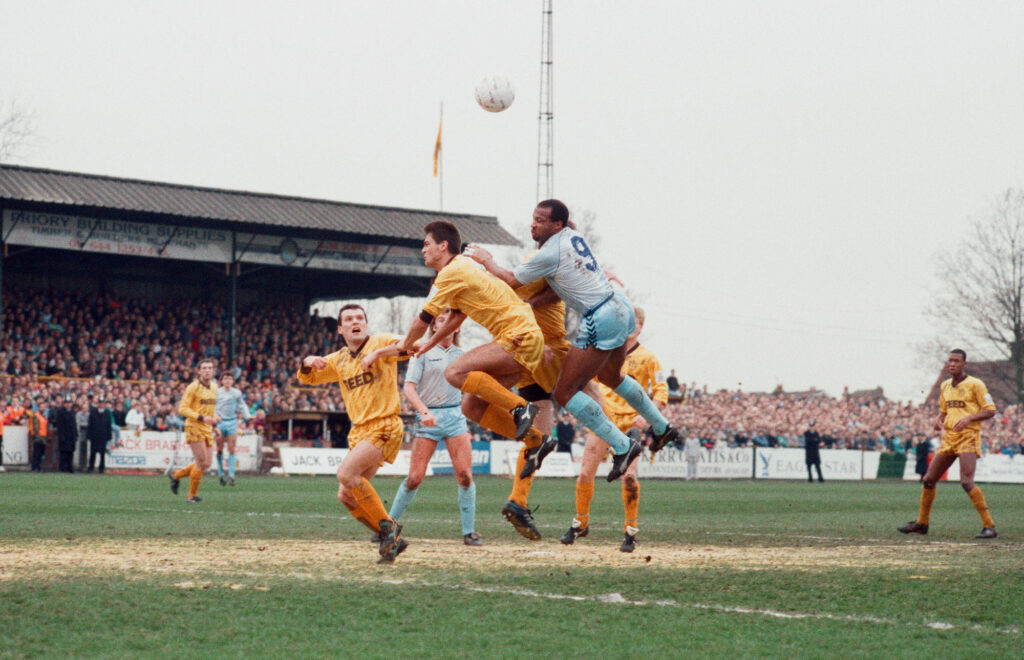 Sutton v Coventry during the FA Cup 1989