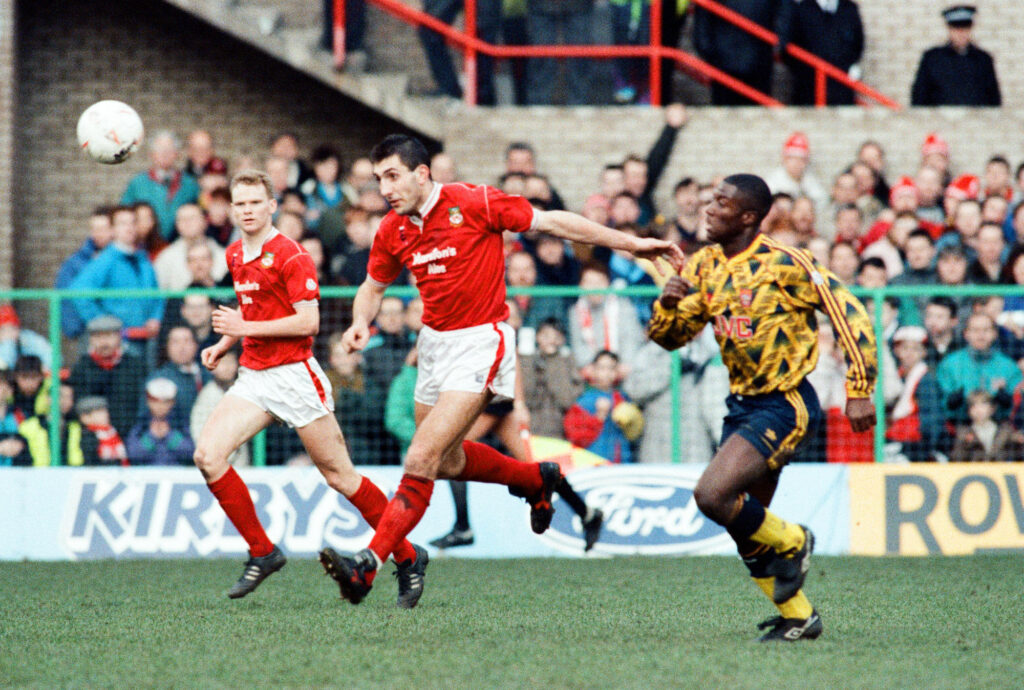Wrexham v Arsenal, FA Cup match at the Racecourse Ground in Wrexham