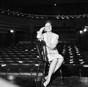 Judith Barker at the Oldham Coliseum, April 1964.