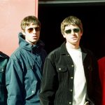 Oasis stood outside the Metroradio Arena in Newcastle, September 1997