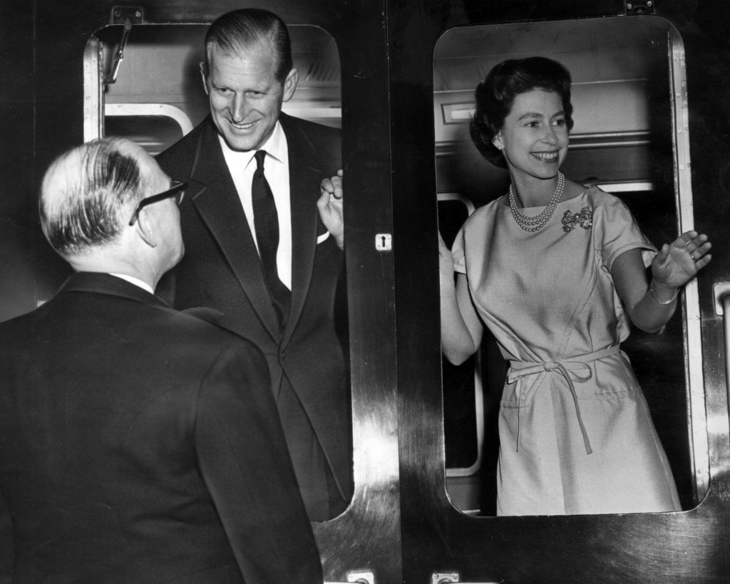 The Queen and Prince Philip leaving Manchester, 18th February 1965