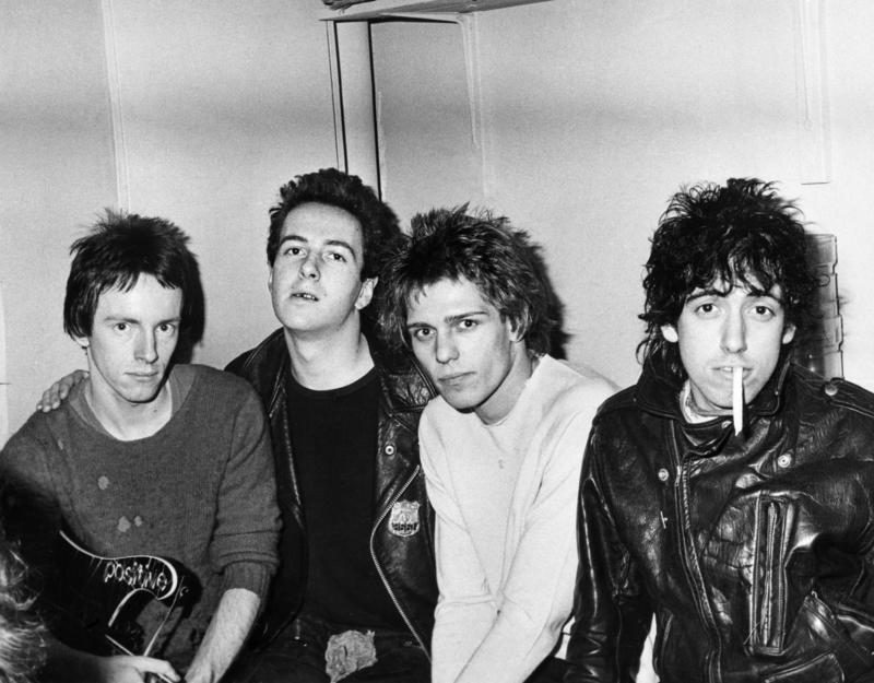 The Clash pictured at the Elizabethan ballroom Belle Vue in Manchester