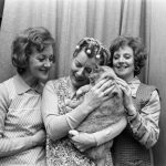 Thelma Barlow, Jean Alexander and Barbara Knox with the Street's cat.