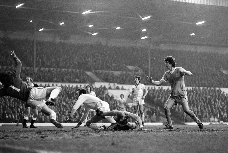 Leeds' Brian Kidd watches on as City score