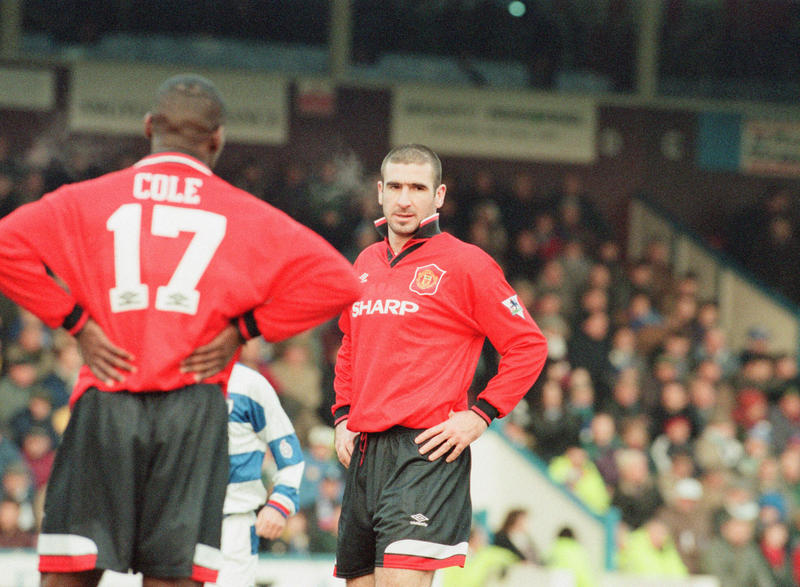 Eric Cantona and Andy Cole