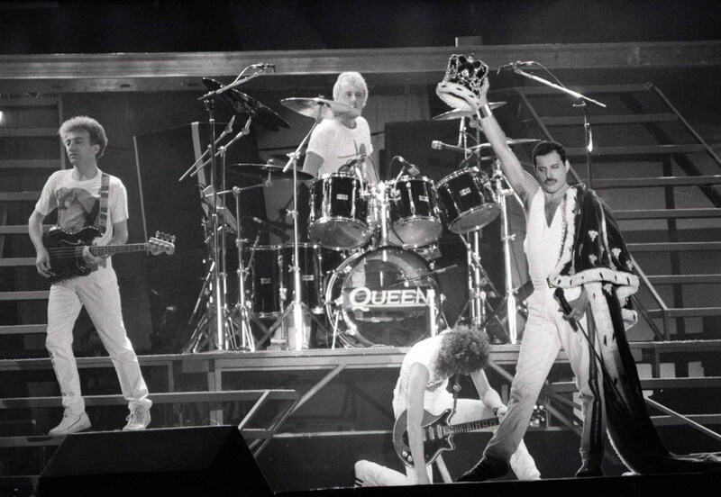 Queen live on stage