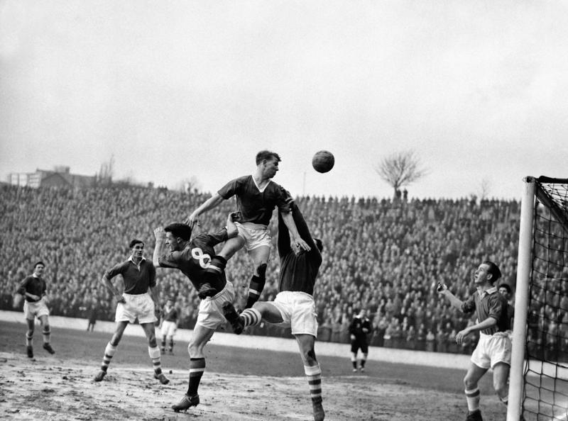 Action during the league match between Charlton and Manchester United.