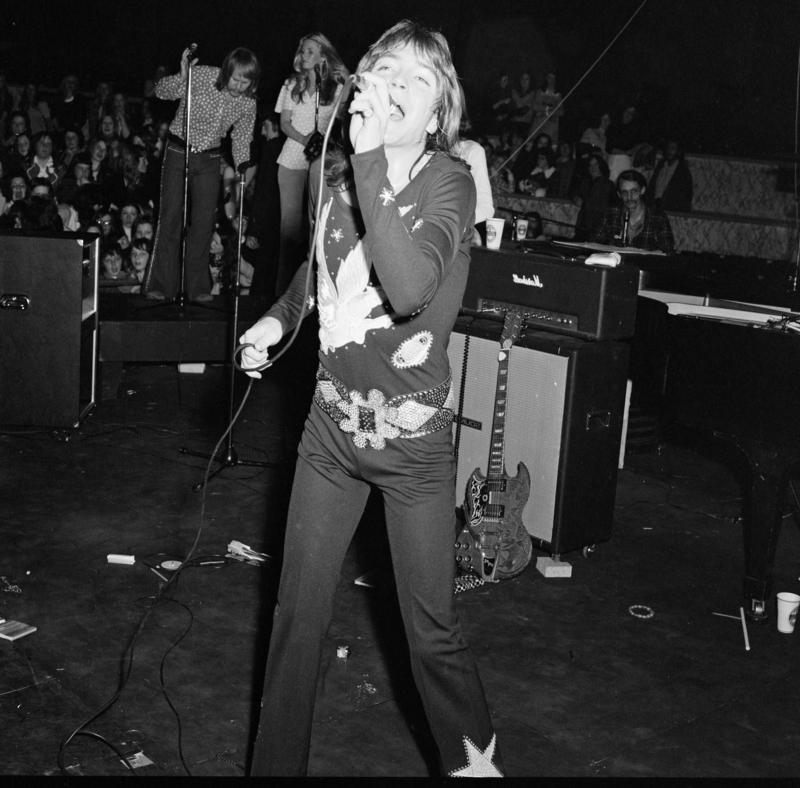 David Cassidy pictured during his concert at Belle Vue, Manchester.