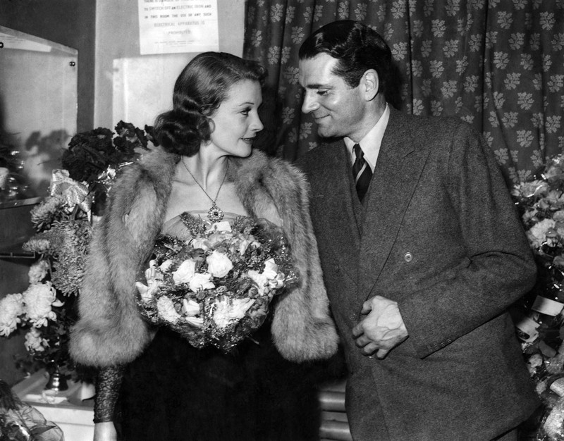 Sir Lawrence Olivier and his wife Vivien Leigh