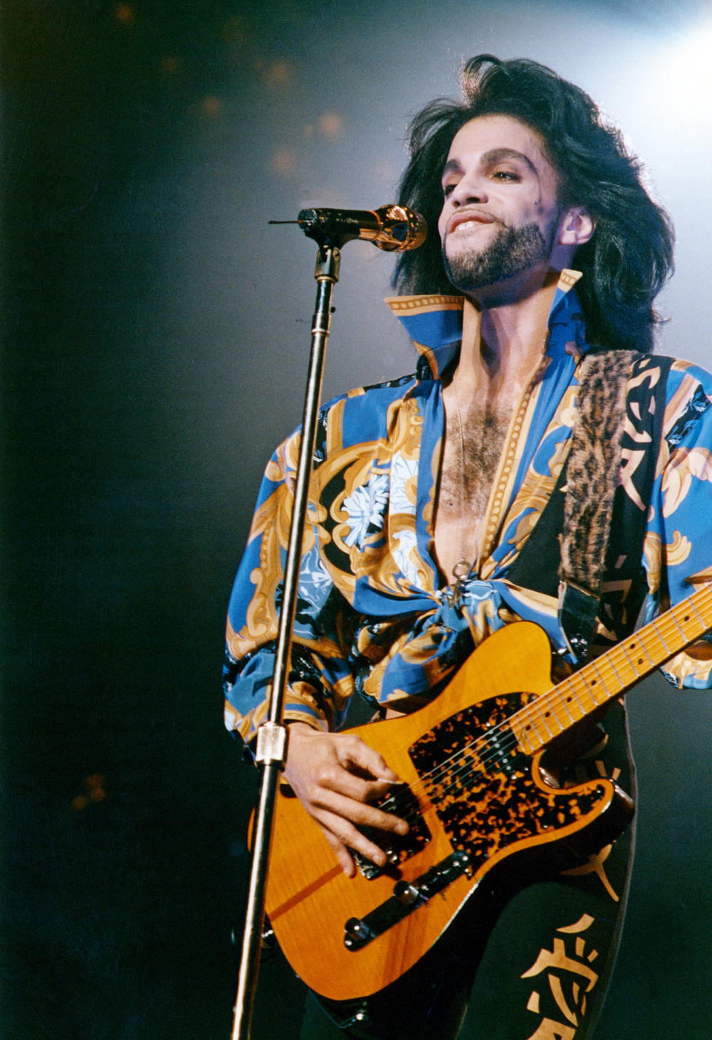 Prince plays Maine Road as part of his 'Nude' tour, August 1990