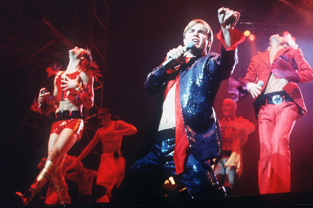 Take That's Gary Barlow on stage at the Manchester Arena, August 1995