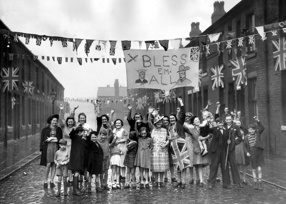 A touching banner of gratitude at a Newton Heath street party