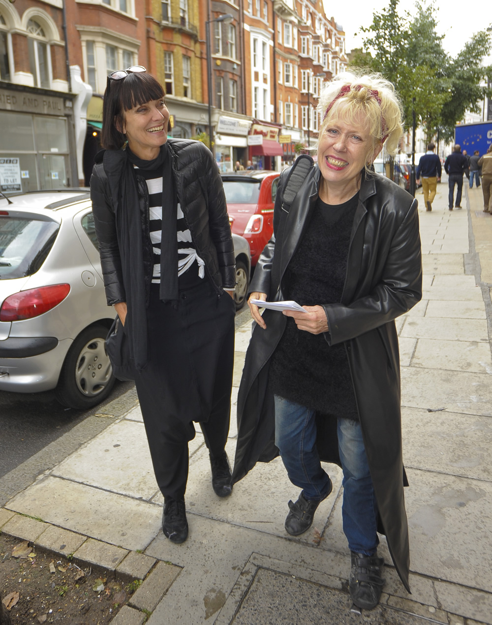 Swing Out sister's Corinne Drewery, left, with Hazel O'Connor, September 2012