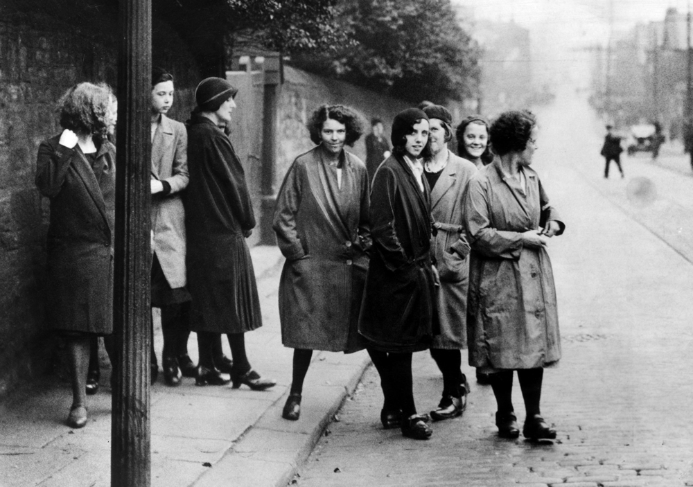 A group of women weavers on strike in Manchester, August 1932