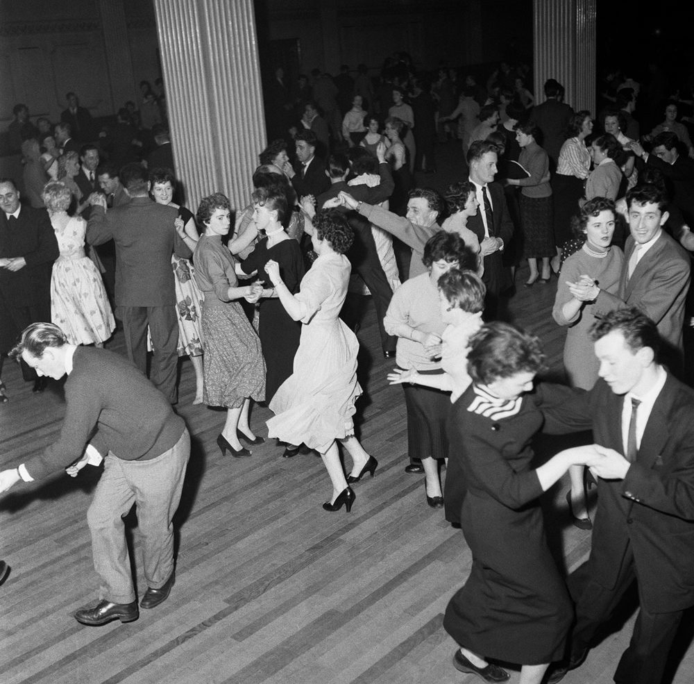 Rock and roll fans compete in the Bill Haley dance contest at Belle Vue, February 1957