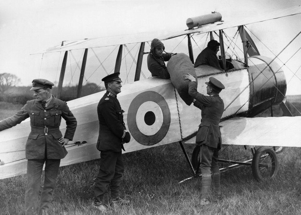 RAF planes were pressed into service to deliver the mail, May 1926