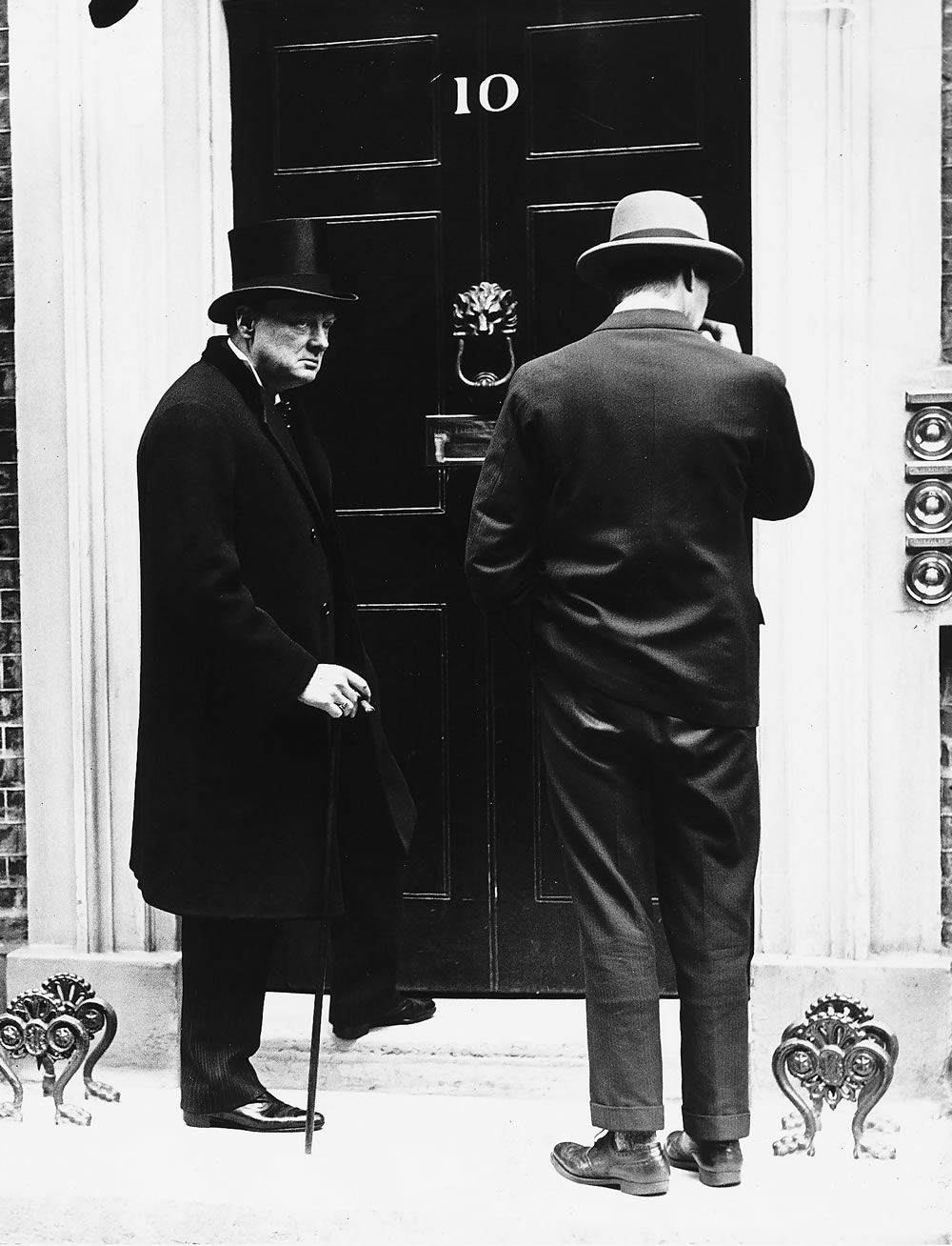 Home Secretary Winston Churchill at 10 Downing Street, April 1926