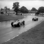 Taffy von Trips' Ferrari leads Stirling Moss at Tatts Corner