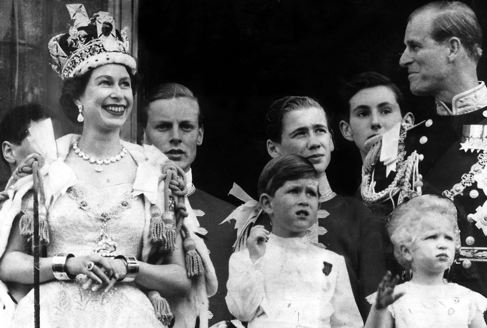 The Royal Family on the balcony of Buckingham Palace during Coronation Day, June 1953