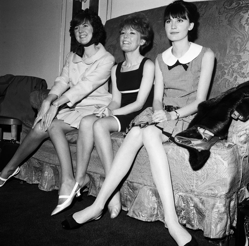 Never in a band, but formidable as solo artists – Cilla Black, Petula Clark and Sandie Shaw at a Variety Club lunch, May 1965
