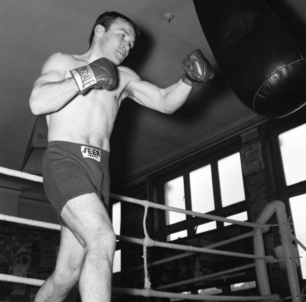 British lightweight champion Dave Charnley before his title defence against Maurice Cullen at Belle Vue, May 1963