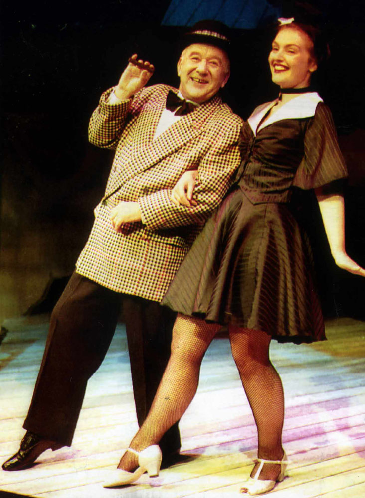 Roy Barraclough (Alec Gilroy) steps out on stage with Henrietta Whitsun-Jones, September 1992