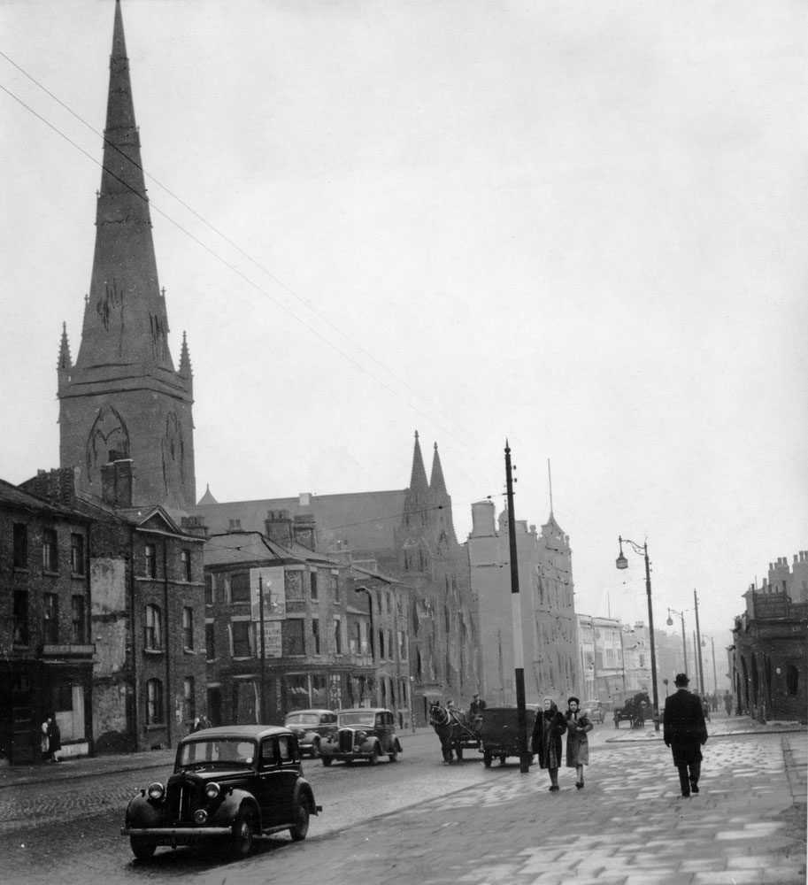 The imposing Roman Catholic cathedral of Salford, March 1946