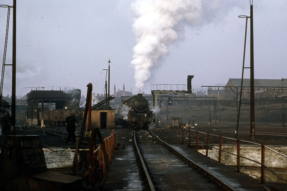 One of the last locos to use Stockport Edgeley engine shed prior to its closure to steam in 1968.