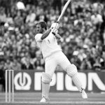Ian Botham cuts loose during his sparkling 118 against Australia at Old Trafford, August 1981