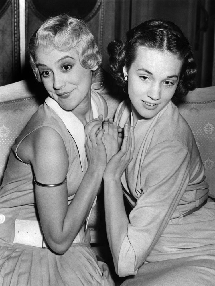 Julie Andrews, right, and Anne Rogers both played the lead in The Boyfriend, August 1954