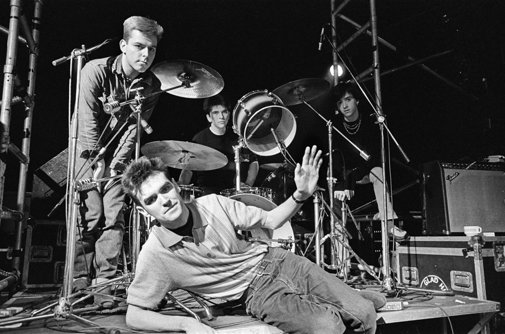 The Smiths on stage in March 1984. They are, from left, Andy Rourke, Mike Joyce, Johnny Marr and Morrissey