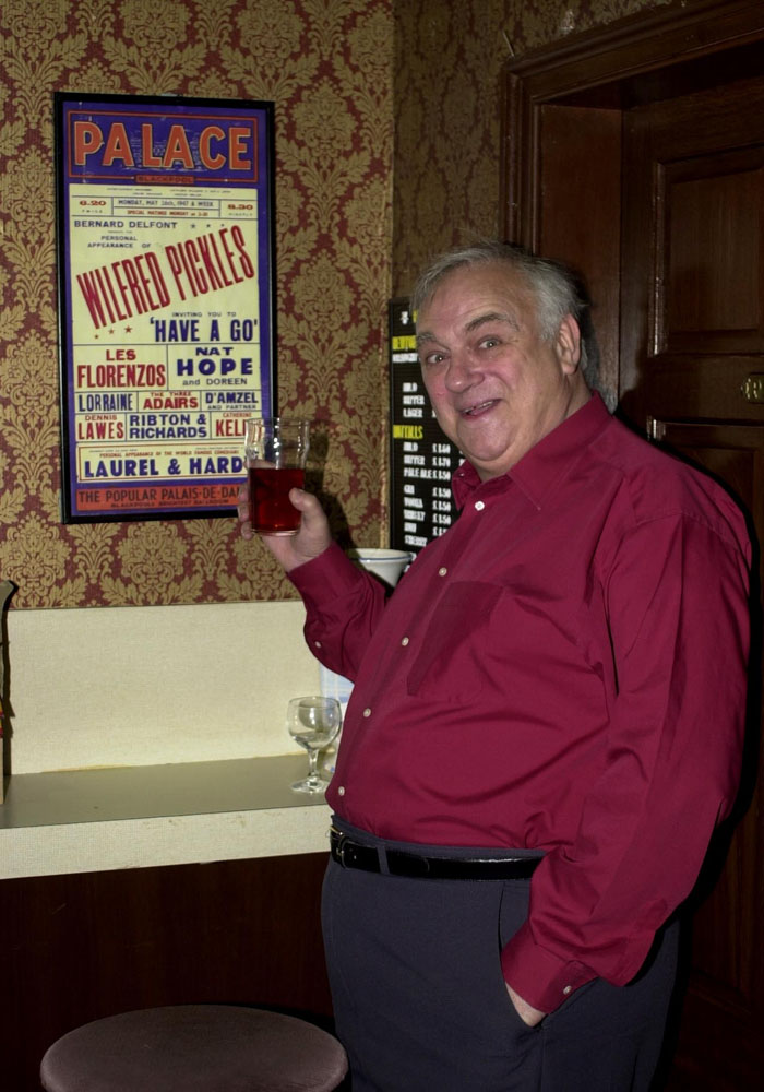 Comedian and actor Roy Hudd in his Street role as undertaker Archie Shuttleworth, January 2002