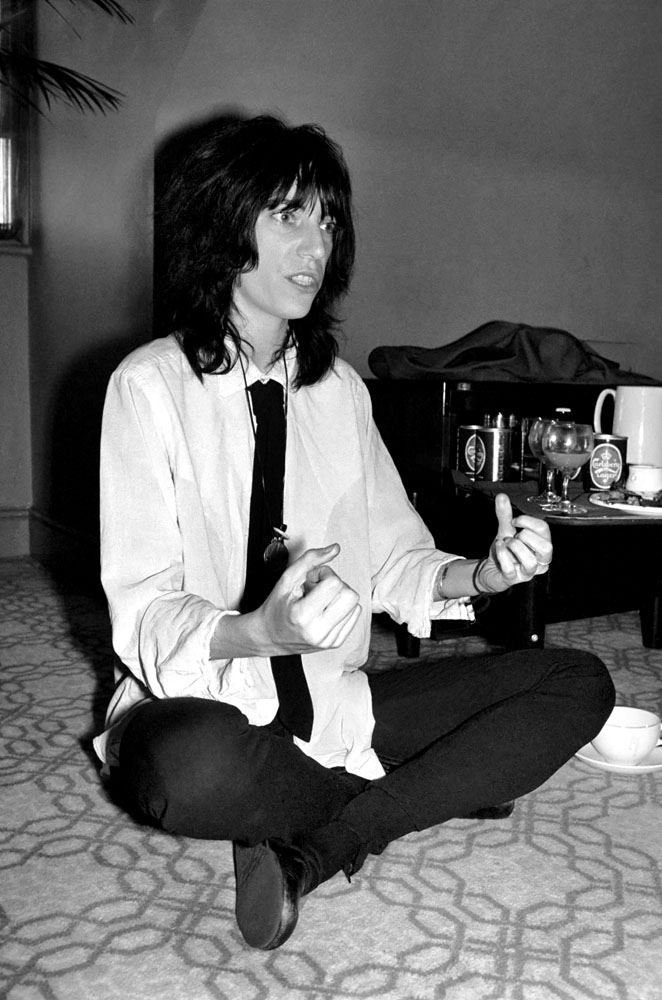 American punk singer Patti Smith, who performed in Manchester, pictured in May 1976