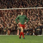 Ray Clemence during the First Division game against Southampton at Anfield, 11 September 1971.