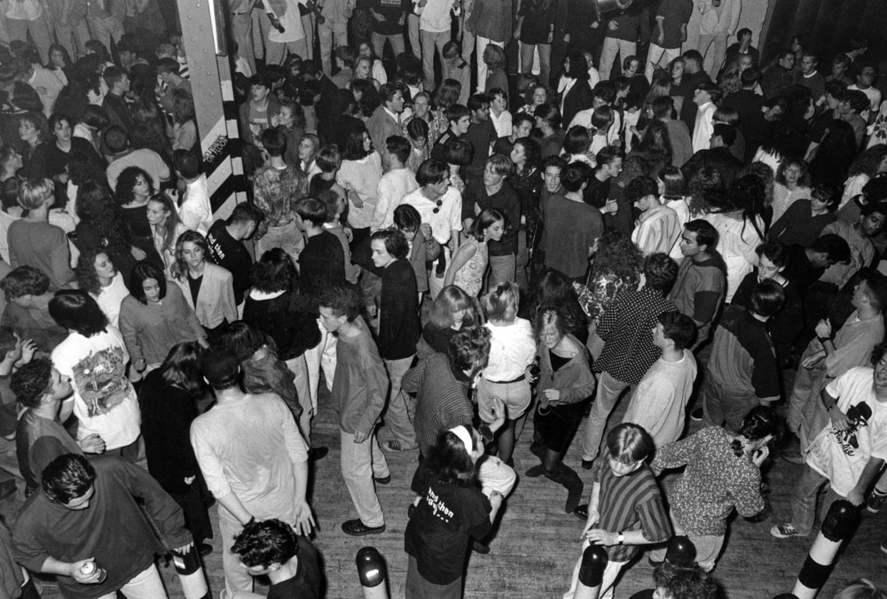 Dancing at Manchester's Hacienda club, October 1990