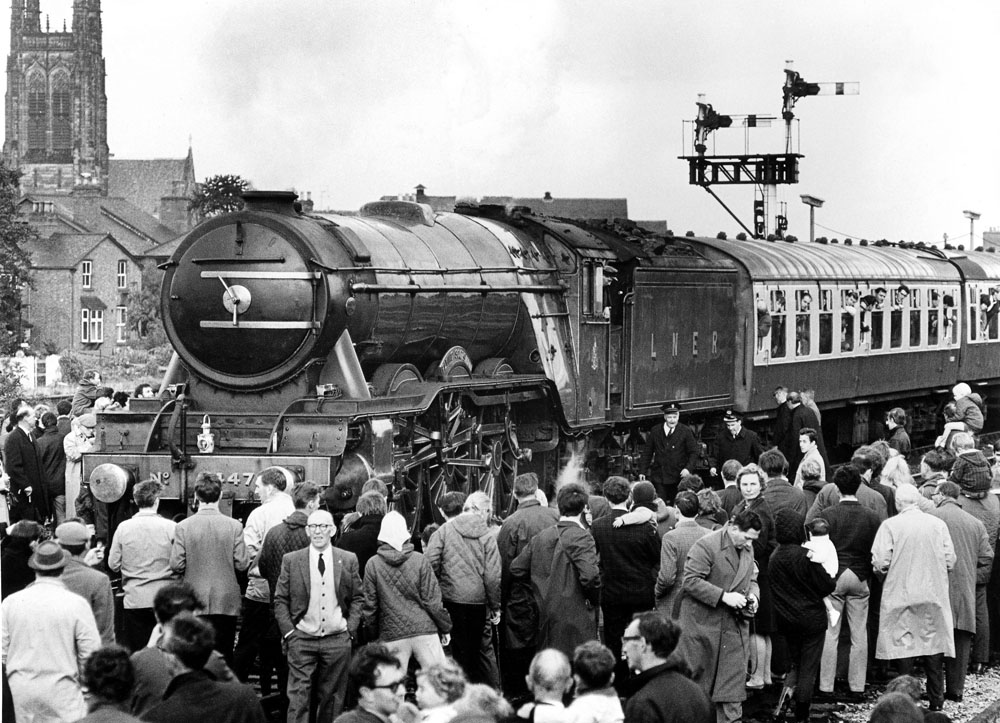 From August 1968, the only steam loco allowed on the main line was Flying Scotsman.