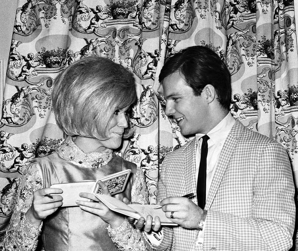 Dusty Springfield, pictured in Manchester with Bobby Vee in March 1964, was an influence on The Smiths