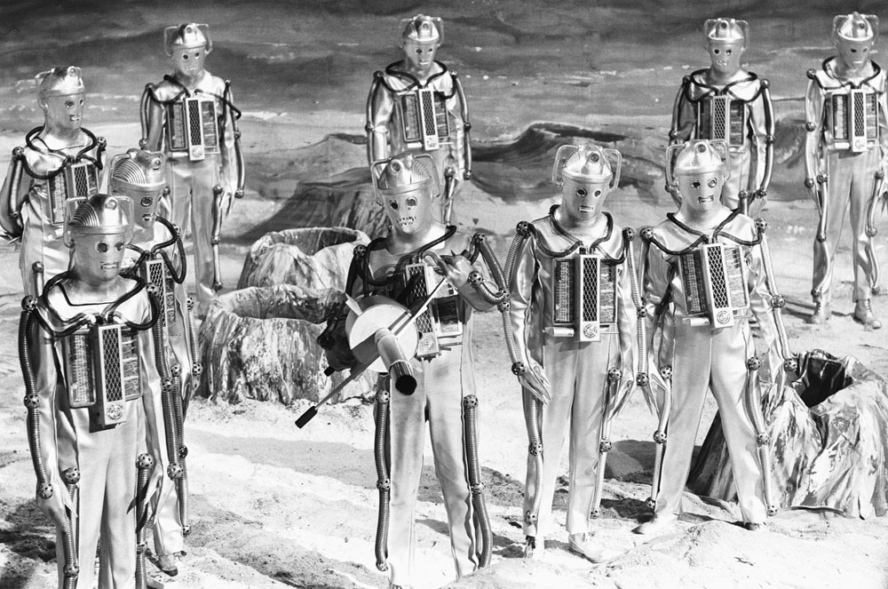 Cybermen build a fiendish device on the moon's surface in their second appearance on Doctor Who, January 1967