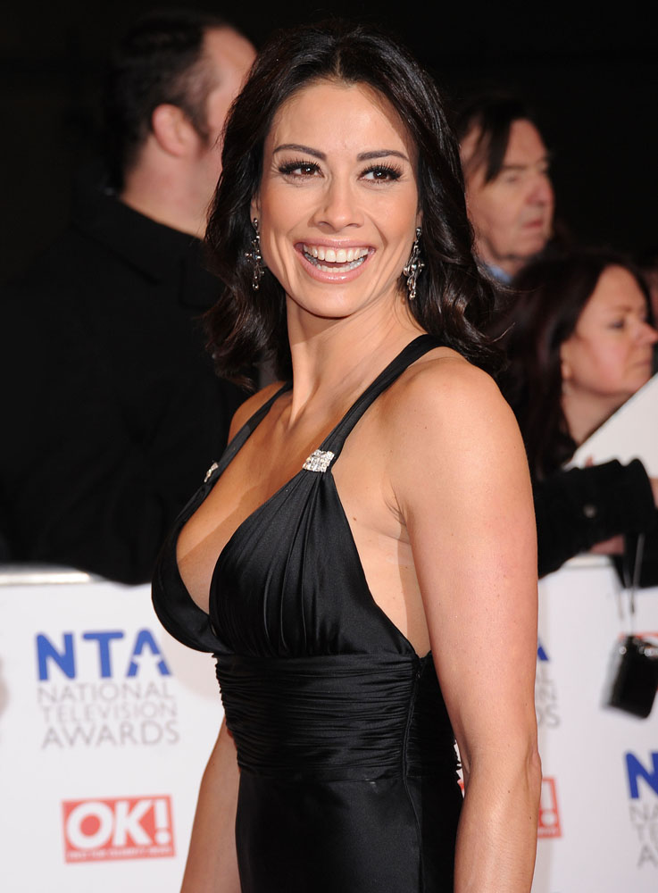 Manchester presenter Melanie Sykes at the National Television Awards, January 2012