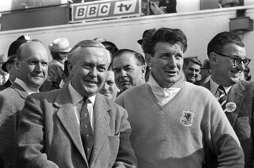 Prime Minister Harold Wilson with Britain's George Will at the 1965 Ryder Cup