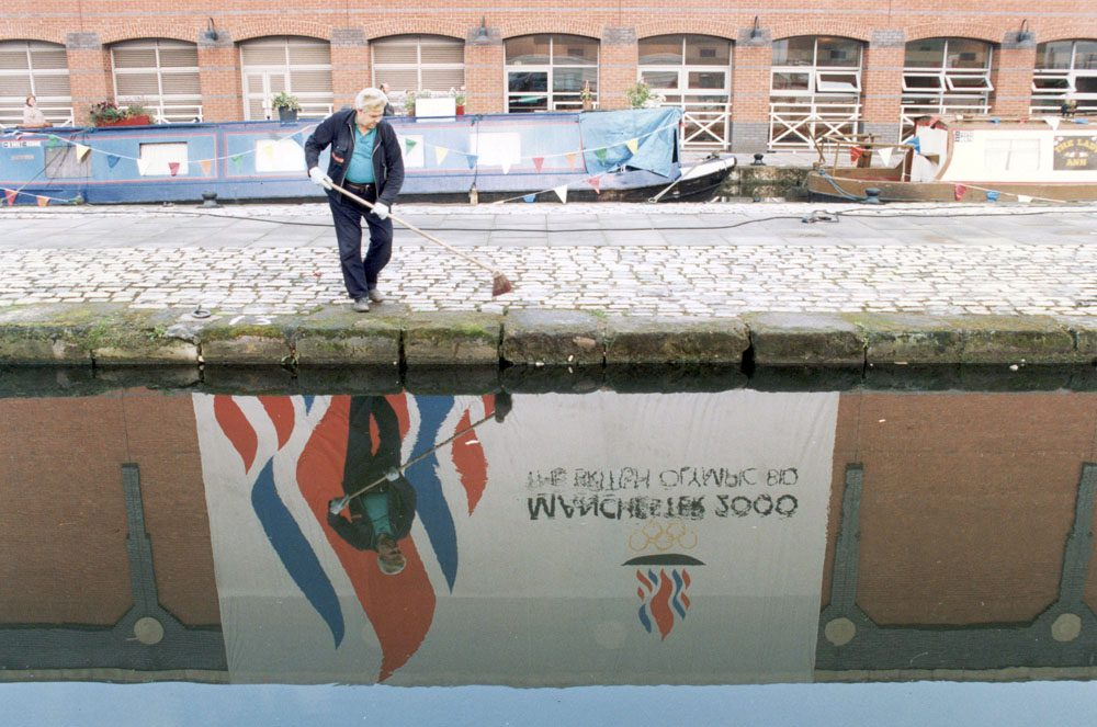 Cleaning up after a day of disappointment for Manchester's Olympic bid
