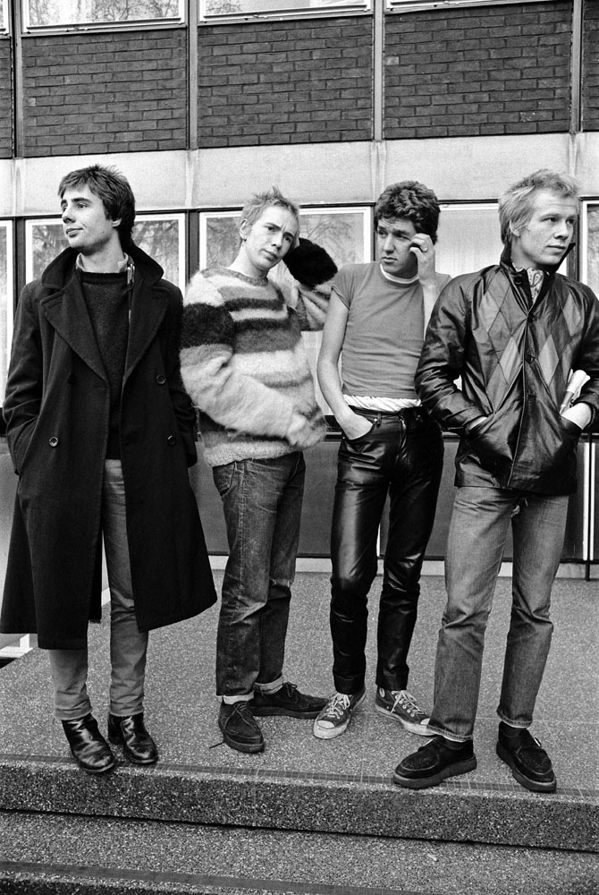 Punk group the Sex Pistols in Manchester, February 1976