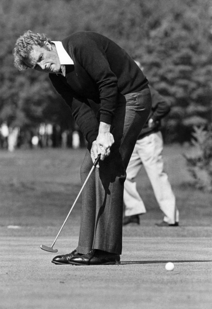 Nick Job on the 11th hole at the Greater Manchester Open, June 1978