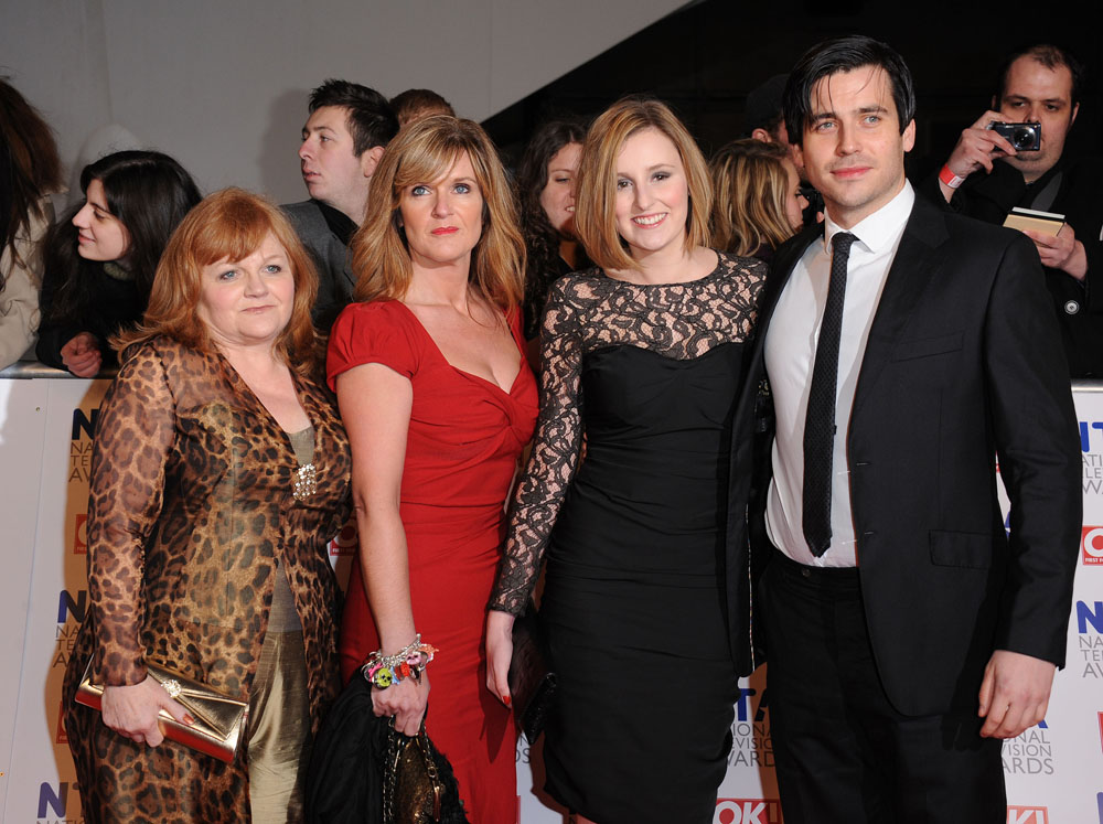Oldham actress Siobhan Finneran, second left, at the 2012 National Television Awards with Lesley Nicol, Laura Carmichael and Thomas Barrow