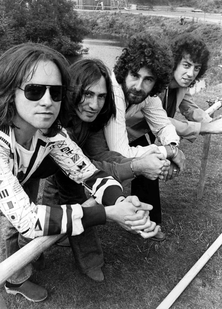 Eric Stewart, Lol Crème, Kevin Godley and Graham Gouldman of 10cc, July 1975