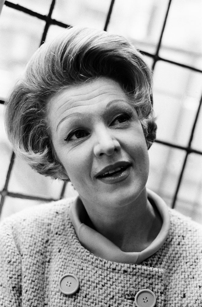 Marti Stevens in the musical High Spirits at the Palace Theatre, October 1964